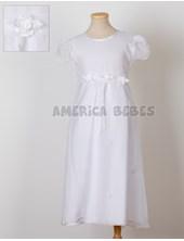 Vestido comunion corte princesa con faja organza y falda. Children Dior.