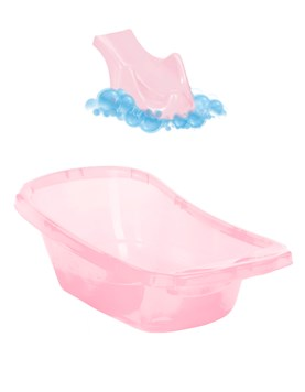 Reductor para bañadera - Rosa Perlado. Ok Baby