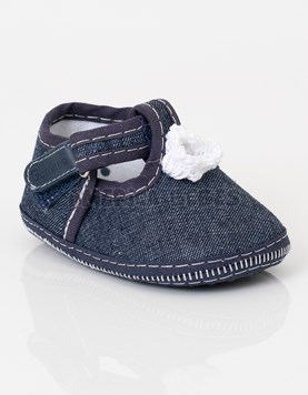 Guillermina con abrojo Jean azul. Pimpollo Crochet. Gorditoo.
