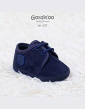 Zapatilla bebe   corderoy azul  c/escudito. Gorditoo.