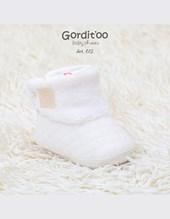 Bota plush natural con coral fleece.  Gorditoo.