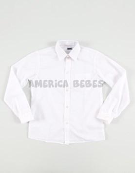 Camisa M/L COLEGIAL BLANCA. WACKY.
