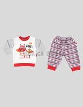 Pijama con puño combinado nene m/l SUPER HEROE RAYAS. Colores surtidos. Premium only baby