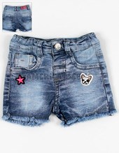 Short denim con lycra c/ parche.. Facheritos.