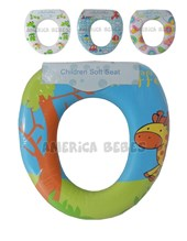 Reductor de inodoro acolchado. Colores surtidos de nena y varon. Disney Licencia.
