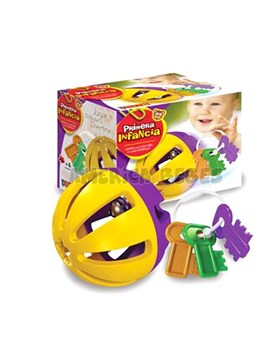 Set 2 piezas: pelota sonajero y llaves mordillo primera infancia. Duravit