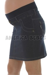Pollera jean spandex c/faja en cintura. Que Sera?
