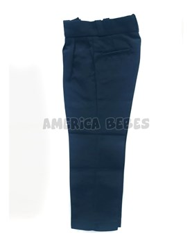 Pantalon sarga AZUL colegial. Talle: 2-4 CON PINZAS. Talle 6 en adelante SIN PINZAS. Su Roger.