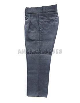 Pantalon sarga GRIS colegial. Talle: 2-4 CON PINZAS. Talle 6 en adelante SIN PINZAS. Su Roger.