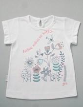 Remera beba M/C estampa flores. Gruny.