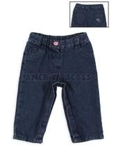 Pantalón jean beba c/broches y logo bordado. Chic-chac.