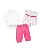 Conj. saquito s/mangas, body polera y pantalón. Colores surtidos. Premium Only baby.