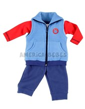 Conj. chaleco, body y pant. nene Micropolar liso. Colores surtidos. Premium Only Baby.