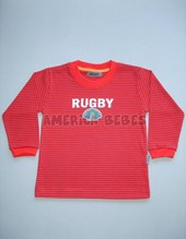 REMERA ML RAYADA BEBE RUGBY. COLORES SURTIDOS. GRUNY.