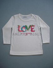 REMERA ML BEBA.LOVE. COLORES SURTIDOS. GRUNY.