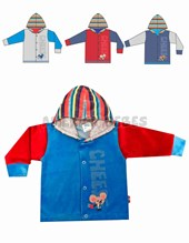 Saquito Plush nene RATIN. T0-3: 3 / T3-6: 6 / T6-9: 9 / T9-12: 12 / T12-18:18.Colores surtidos. Yaby.
