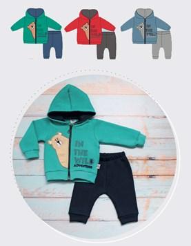 Conjunto de friza bebe Campera y pantalon Osito Yaby