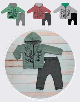 Conjunto de friza bebe buzo y pantalon Rock Fun Yaby