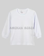 Camiseta niño Blanca Interlock. Colores surtidos. Naranjo.