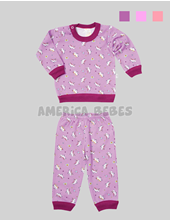 2f72fb708 Pijama Bebe 2 Piezas ESTAMPADO UNICORNIO. Colores surtidos. Naranjo.