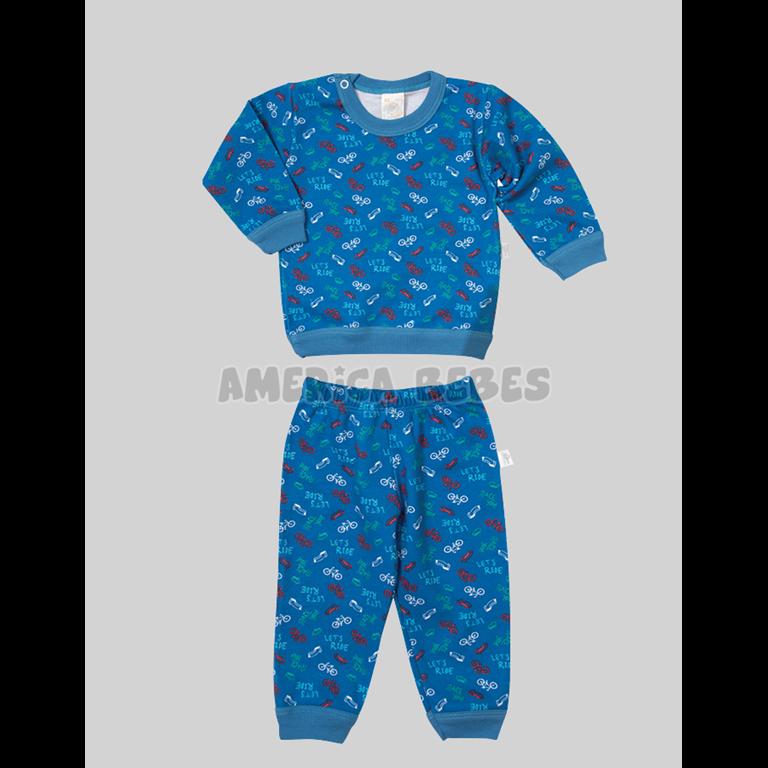 5c6541bd8 Pijama Bebe Estampado BICICLETAS. Colores surtidos. Naranjo ...