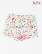 Short bb nena elastizado estampado flores. Colores surtidos. Gepetto.