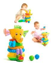 Elefante Juego de apilado y pelota musical 6 a 18 meses. Tiny Love.