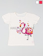remera flamenco smile nena. SOL DE CHICOS