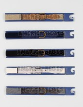 Cinturón elástico en regla  Bastón diagonal regulable. Colores surtidos. Cintos Mac Fly.