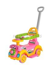 Andarin Ring Car Girl. Edad 1 a 3 años. Apoya pies y barral de seguridad desmontables. Telefono y bocina. Biemme.