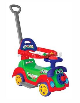 Andarin Ring Car Boy. Edad 1 a 3 años. Apoya pies y barral de seguridad desmontables. Telefono y bocina. Biemme.