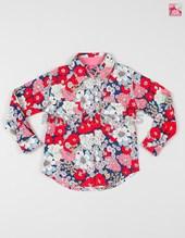 Camisa nena estampada flores M/l. Colores surtidos. Poninos.