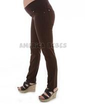 Pantalon futura mama gabardina negro chupin c/faja, Que sera?