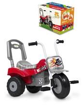 Triciclo Moto Zeta Rojo: Horquilla construida en caño de acero + 24 meses. Kuma Kids.
