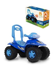 Cuatriciclo  ATV azul andarín y caminador construido en plástico resistente. + 12 meses. Kuma Kids.