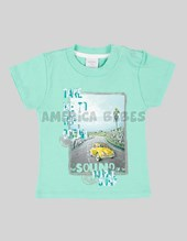 Remera bebe M/C estampada. Ruabel.