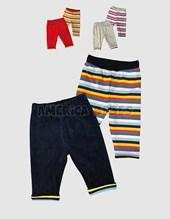 Pantalon reversible liso rayas. Colores surtidos. Pachi.