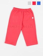 Pantalon frisa bebes c/bolsillo. Colores surtidos. Naranjo.