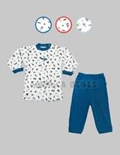 Pijama bebe M/L con estampado. Colores surtidos. Gamise.