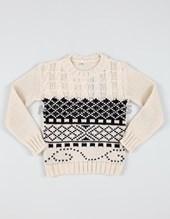 Sweater redondo con motivos. Fernando.