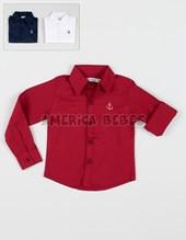 Camisa bebe M/L c/bordado Ancla. Colores surtidos. Popeye.