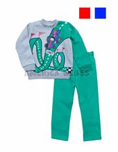 Conjunto bebes estampado Buzo y pantalon. Colores surtidos. Gepetto.