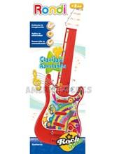 Guitarra eléctrica de juguete para bebes. Cuerdas y clavijas ajustables. +2 años. Rondi