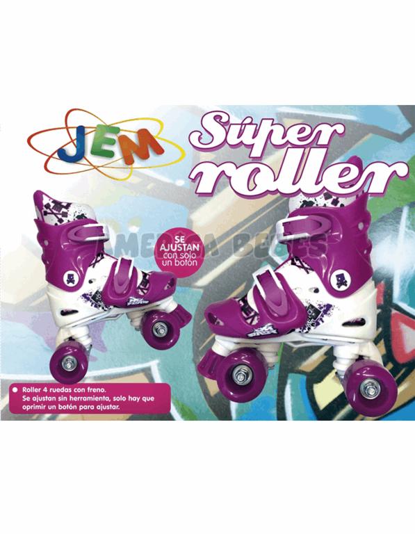 Super roller. 4 ruedas con freno. Ajustables con botón.