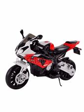 Moto BMW S1000RR a Bateria. 12 v.  Rueditas. Luz. sonidos. 2 marchas. Vel max 7km/h. Hasta 30kg.  Rojo.  Biemme.