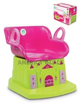 Pelela castillo magico.  Facil de limpiar. + 12 meses.  Asiento con respaldo. Color para nena. Kuma Kids.