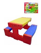 Pic Nic table. Para 4 niños. Plastico reforzado.Medidas: 84x48x27 cm. Rondi.