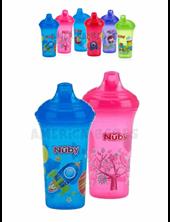 Vaso antiderrame con boquilla rigida 270 ml x 1. Colores surtidos. Nuby.