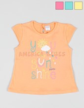 Remera bb nena c/estampa Sunshine. Gepetto.
