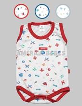 Body bebe S/M estampado nene. Colores surtidos. Gamise.